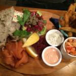 Just a sample of the fab food served at The Castle Restaurant in Little Haven.