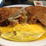 Sausage and Cheese Omelet