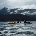 Kayaking on Tutka Bay with True North