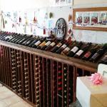 Wine room in the Broadway Deli