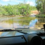 Ready to cross, heading outback