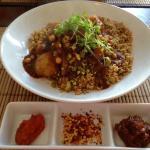 Moroccan Vegetable and Chick Pea Chermoula Casserole