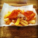 Freshly battered fish & handcut chips
