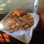 Charlie Brown's - free cheese and crackers at the bar!