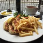 Grilled chicken and chips. Yum!