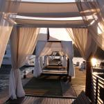 Cabanas by the jetty