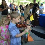 Children's Instrument Petting Zoo at Family Concert Day, Bravo Vail