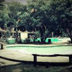 Pool in front of the resto