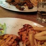Lamb Chops & Waka Waka Chicken. Personal Fave!