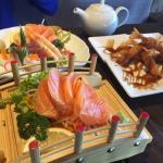 Wonderful Sashimi plus Prawns in Musashi
