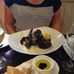 Mussels for starter. Yum