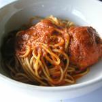 Tavolo Pronto Spaghetti and Meatballs