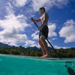 Enjoy Stand Up Paddleboarding in the shelter of our lagoon