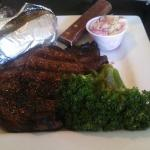 Ribeye, Baked Potato & Broccoli