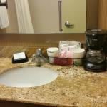 Bathroom:  Sink with Coffee Maker (dislike)