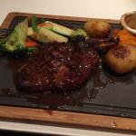 beautiful and tender Rib eye steak so tender and presented well!