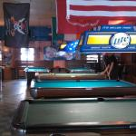 The pool table area