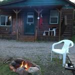 Fire outside Cabin 11