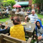 Lunch with friends in the pub garden
