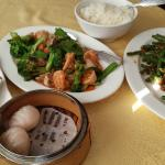 Potstickers, shrimp dumplings, Hakka Shrimp & Veggies, Green beans