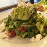 Chopped salad with Green Goddess dressing