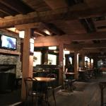 Giant timber beams give the place ambience