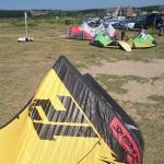 Setting Up the kites at mounts BAy