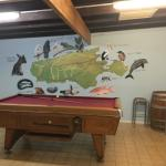 Pool table and lounge area