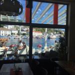 En fantastisk utsikt over havna i Risør.