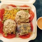 Tuna Salad w dressing on side.