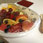 chicken salad on fruit plate - to go