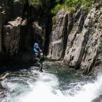 Jump in Artigue canyon