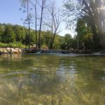 River korona (5 minute walk from apartment)
