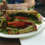 The Protein Veggie Sandwich was huge!