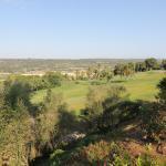 Blick vom Hotel über den Golfplatz hinweg