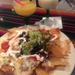 Sloppy Nachos and frozen margaritas oh ya!