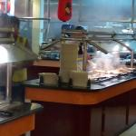 The steamy buffet bar