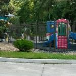 Kids play area in front of DeNucci's.