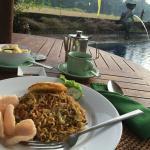 Breakfast - mee goreng by pool