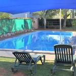 Our shaded pool area ideal for the hot kimberley summer