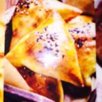 Samosa and naan bread