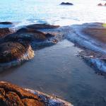 De Silicaat afzetting in het water op het buitenterrein