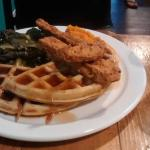 Fried Chicken and Waffles with Collard Greens