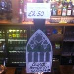 Home brewed craft ale £2.50 per pint!