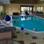 Pool with beach balls for fun