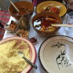 Sardine au citron confit et briouat de crevettes. Couscous kefta en sauce