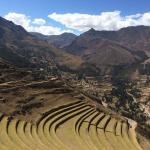 La fiesta de la Virgin Carmen and pistachio inca terraces