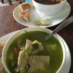 Суп из рыбы и осьминога