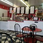 Fun old fashion ice cream shop that also serves soups, salads & sandwiches.  Friendly staff