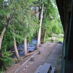 view of the creek behind the motel